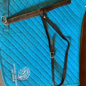 Halter to go over bridle for training/lessoning